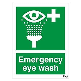 Emergency eye wash, First aid sign. 150mm x 200mm (1mm Thick Rigid Plastic)