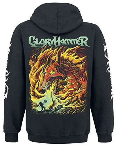 Gloryhammer Dragon Kapuzenjacke schwarz Schwarz