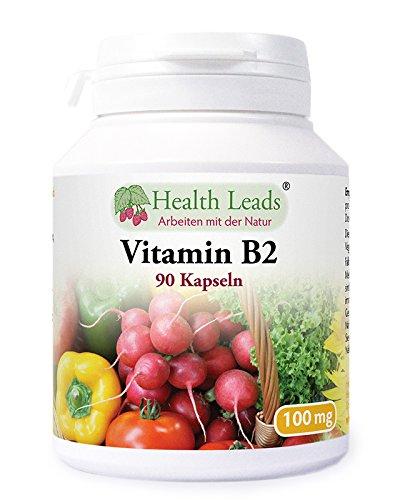 Vitamin B2 100mg x 90 Kapseln | Frei von Magnesiumstearat & üblen Zusätzen | GVO frei | Vegan | Riboflavin hilft bei Müdigkeit und Erschöpfung, unterstützt den Energiehaushalt | Hergestellt in Wales
