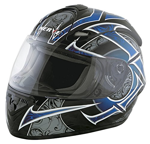 Nerve 1518040202_03 Casco Integrale Nh2013, Nero/Blu, M - Casco Blu