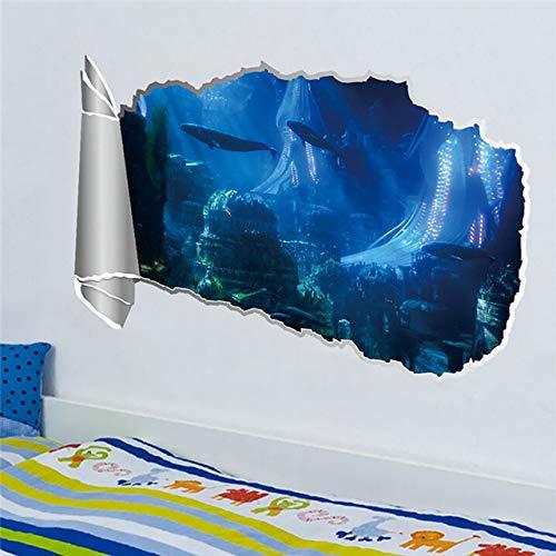 3D Gebrochene Wand Natur Landschaft Wandtattoos Boden Decke Wand Abnehmbare Aufkleber Dekorative Aufkleber Aufkleber d3 23,3x38 cm