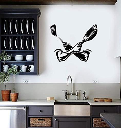 Vinyl applique wandbild küche kochen spachtel dekoration hause küche restaurant mode dekorative wandaufkleber 42 * 53 cm - Kitchenaid-spachtel-spachtel