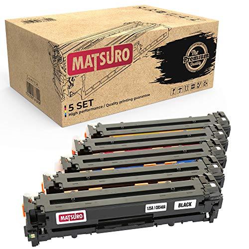 Matsuro Original | Kompatibel Tonerkartusche Ersatz für HP 125A CB540A CB541A CB542A CB543A (1 Set + 1 BK) -