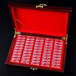 50 Pezzi Capsula Moneta, 3 Formati (25mm/27mm/30mm) Protegge Il Portamonete della Guarnizione con Sc