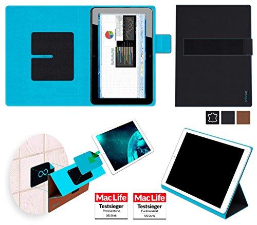 reboon Hewlett Packard Elite x2 1011 G1 Hülle Tasche Cover Case Bumper   Schwarz Leder   Testsieger