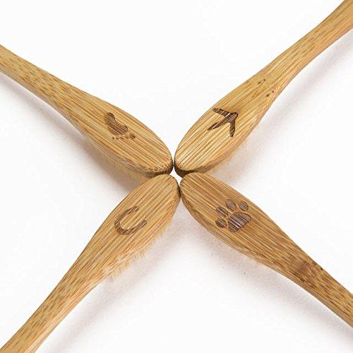 Planet Bamboo Bambus Zahnbürste für Kinder (4 Stück) - 7