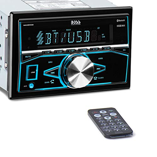 BOSS Audio Systems 820BRGB Car Stereo - Doppel-DIN, Bluetooth, (Keine CD/DVD) MP3 / USB-AM/FM Radio, Multi Color Illumination Boss Car Audio System