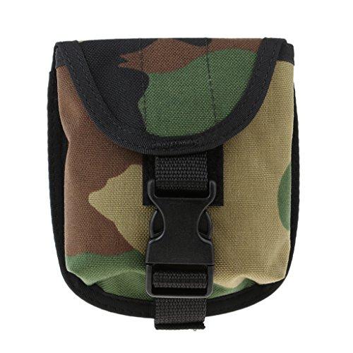 D DOLITY Hochwertiger Nylon2 Zoll Taucher Gewicht Gürtel Tasche Weight Pocket Bleitaschen Bleigurt Tasche für Tauchen Tech Dive 2 KG Gewicht - Grün