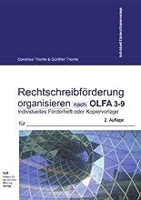 Rechtschreibförderung organisieren nach OLFA 3-9  (Oldenburger Fehleranalyse, für die Klassen 3-9): Individuelles Förderheft für die Organisation oder Kopiervorlagen (Listen und Tabellen) hier kaufen