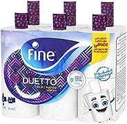 Fine Sterilized Toilet Paper, Duetto, 340 Sheets, 2 Ply, 12 rolls White ' 1 U