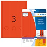 Herma 5137 Farbige Ordnerrücken Etiketten rot, blickdicht, breit/lang (61 x 297 mm) 60 Ordneretiketten, 20 Blatt DIN A4 Papier matt, bedruckbar, selbstklebend