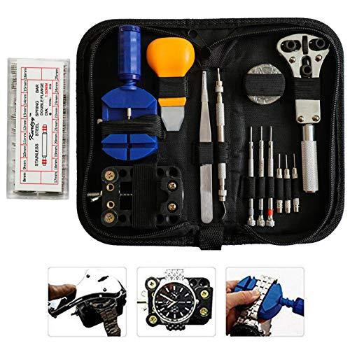 300 tlgs Professionelles Uhren Reparatur Werkzeug Set mit Etui von Kurtzy - Bestes Set für Herrenuhren u. Damenuhren - Hochwertiges Set Mit Befestigungsentferner, Gehäuseöffner, Federstifte u. Mehr