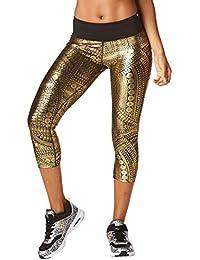 Zumba Women's All Night Metallic Capri Leggings