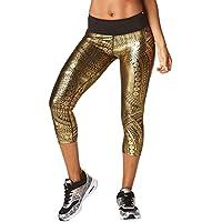 Zumba Fitness Z1B00594, Pantaloni Donna, Gold, M
