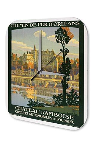 Orologio parete Tour Mondiale Francia Amboise Castello Plexiglas Acrillico - Castello Di Amboise