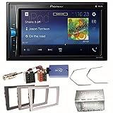 Pioneer MVH-A200VBT USB Bluetooth MP3 WMA Autoradio 2-Din Moniceiver Einbauset für Opel Vectra Omega Corsa Signum Meriva