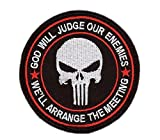 Black Punisher God Will Judge Our Enemies Tactical Morale Gear Rucking Operator Patch Taktishe Aufnäher Aufbügler Von Titan One Europe
