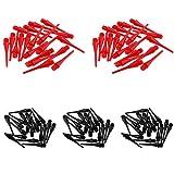 Wuyan 100 Pz/Pacco Standard 2BA Filettatura Nylon Punte morbide Punti di freccetta Sostituzione della Testa dell'ago per Freccette elettroniche Accessori per Freccette,22mm 40Red 60Black