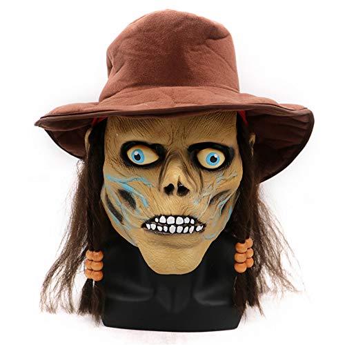 Zhaolian888 Gruselige Maske Zombie Maske Halloween , Eine Größe, Latex Maske, für Erwachsene und Kinder