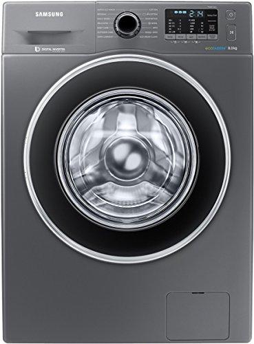 Samsung 8 kg Fully-Automatic Front Loading Washing Machine (WW80J5410GX/TL, Inox Grey)