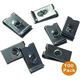 100 x Velocidad Sujetador U Tuercas Ajuste Interior Panel Self Tapping Tornillos Aguja Clips [ No 4 ]