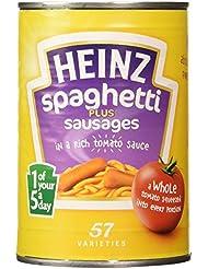 Heinz Spaghetti Plus Sausages in Tomato Sauce, 400 g