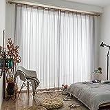 Silk Road Solide Gardine aus voile, Halbschatten Vorhänge Schier dünn Nordische Einfache Für Bay-fenster Balkon Vorhang raffhalter-hellgrau 200x250cm(79x98inch)