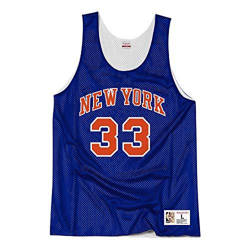 Mitchell & Ness NBA Tank Top New York Knicks Patrick Ewing 1991 All Star #33 Blue M (Die New Knicks York)