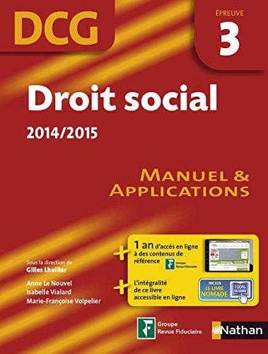 DROIT SOCIAL EPREUVE 3 DCG