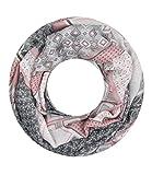 Majea NEUE Saison Damen Loop Schal viele Farben Muster Schlauchschal Halstuch in aktuellen Trendfarben (rosa 3)