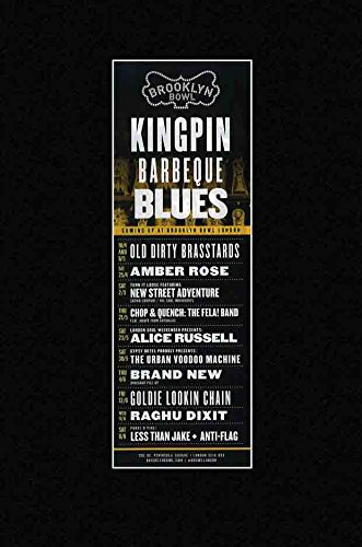 Unbekannt Kingpin Grill Blues-2015Amber Rose Marke weniger ALS Jake Mini Poster-28x 10cm