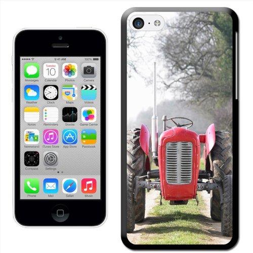 Tracteur rouge in field Coque arrière rigide pour Apple iPhone modèles, plastique, rouge, iPhone 4/4s