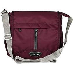 Aoking Men, Boys, Women, Girls Purple Casual Nylon Sling Bag (Tureen)