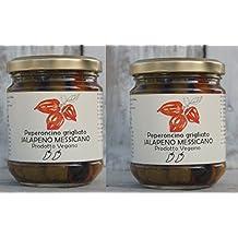 2 (DUE) VASETTI DI JALAPENO GRIGLIATO SOTTOLIO - SOTTOLIO PICCANTE - in olio extra vergine d'oliva e peperoncino Jalapeno gr.180/cad. - SOCIETA' AGRICOLA ALBA - PRODOTTO VEGANO