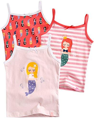 Vaenait Baby 86-122 Maedchen Kinder Unterhemd 3-Packung Top Set Cami Little Mermaid S