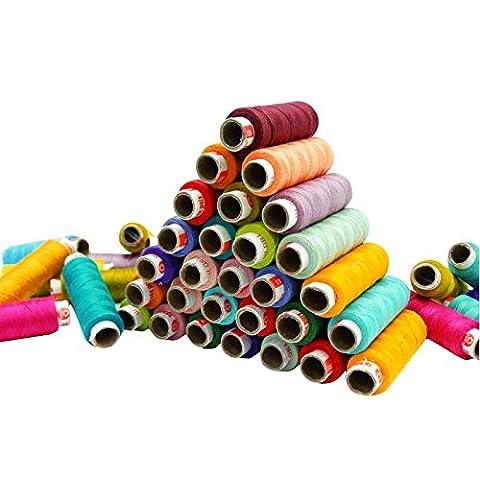 Sortierte Farbe 100 Stück Set Polyestergarn Spun Spool Quilting Sewing
