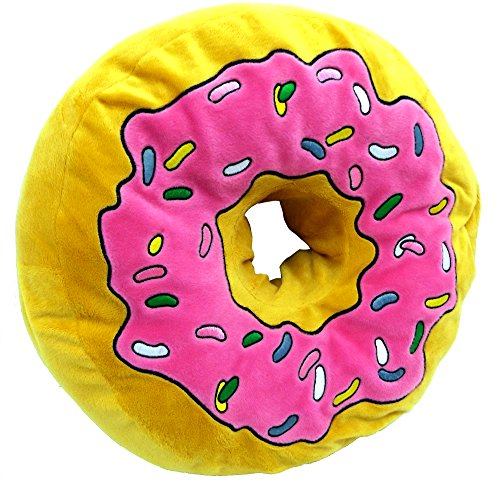 Brigamo 16840 – XXL Plüsch Donut Kissen, Kuschelkissen extra dick und extra flauschig - 2