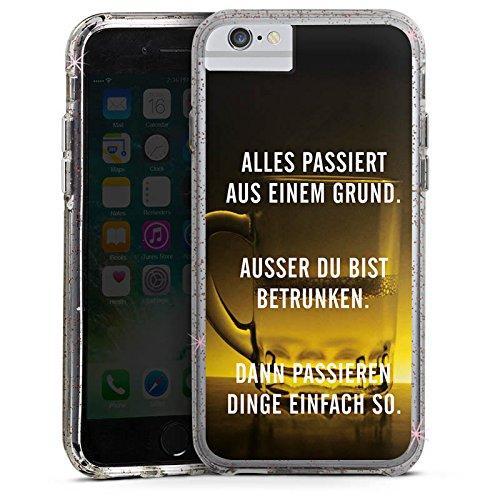 Apple iPhone 8 Bumper Hülle Bumper Case Glitzer Hülle Party Feiern Phrases Bumper Case Glitzer rose gold