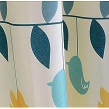 Rideaux et rideaux en coton Rideaux en tissu Traitements pour fenêtres Semi-ombrage Rural Fresh Produits finis Hot Air Balloon Cartoon Boys Enfant Baby Room Rideaux flottants -1PC , 1pc(150x260cm)