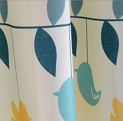 Rideaux et rideaux en coton Rideaux en tissu Traitement des fenêtres Semi-ombrage Grande taille Produit fini Hot Air Balloon Cartoon Boys Enfant Baby Room Rideaux flottants -1PC , 1pc(200*270 cm?