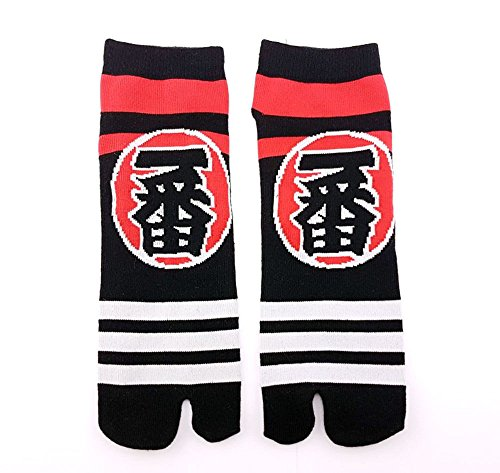 Tabi Socken 'hanakotoba' Japanische Split 2-toe Ninja Flip Flop Geta Sandale Socken Senior (Tabis Kostüm)