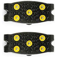 GARDENYEAR 1 par Exterior Simple Silicona Antideslizante 5 Dientes Garra Zapato Agarre Cubierta Spike Crampon