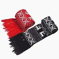 Hat Pink Santa - De punto traje par bufanda par de Navidad de la bufanda de las mujeres de la bufanda caliente del invierno de los hombres con el mantón Exquisito y encantador exquisito y lindo navide