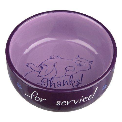 Trixie - Ciotola con scritta Thanks For Service - Gatti (0.3 l) (Assortito)