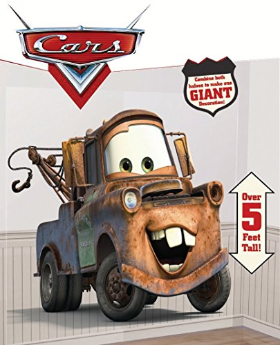 DisneyCars Riesen - Poster/ Tapete / Folie / Wand -Tattoo als Bunte Dekoration - Scene Setter - Hook