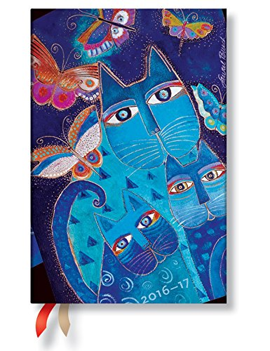 2017 Blue Cats & Butterflies Mini 18 mth (18 Month Diaries)