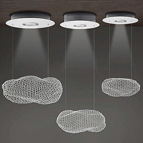Lampe suspension LED brillight Suspension Suspension Metal Spot Leuchten industrielle Deco W éclairage applique 1ampoule lustre Hauteur réglable pour table salle à manger salon chambre la cave Bars 3W/5W/7W & # x3a6–36cm/& # x3a6–42cm/& # x3a6; 56cm (Ampoule incluse) Moderne Taille L