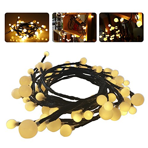 LUXJET 72LED 2.5M Globe LED String Lights Warm white UK Plug 31V Waterproof for Tree Garden Christmas Decoration(Vine Style)