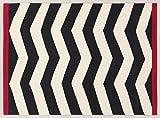 Viva 19733 Ikat Teppich, Baumwolle, weiß/schwarz, 140 x 200 x 2,80 cm