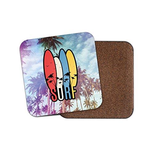 Surf Surfen Extreme Sports Kork Getränke Untersetzer für Tee & Kaffee # 2003, holz, 3 Coaster (2003 Tee)